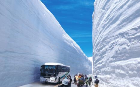 Tateyama Kurobe's snow corridor